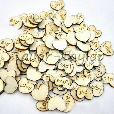 50/100pcs Wooden Buttons 15mm Lovely Heart Shape Sewing Crafts Decoration DIY