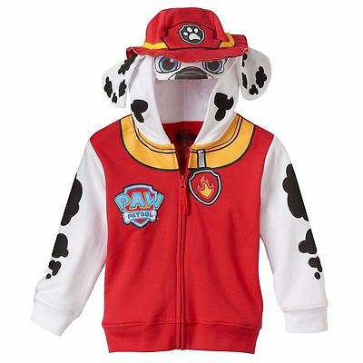 Toddler Kids Boy Girl Paw Patrol Marshall Costume Hoodie Jacket Zip Up 2T 4T 5T