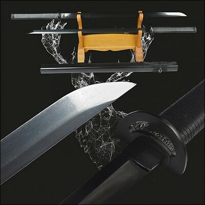 Japanese Ninja Long swords full tang high carbon steel electroplated black