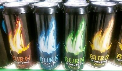 4 News Empty CANS DOSEN canette BURN Energy Drink 500 ml from Spain 2016