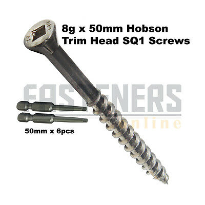5000pcs - 8g x 50mm Hobson Stainless Steel SS304 Trim Timber Decking Screws