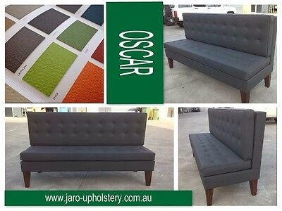 Buttoned Restaurant Dining Chairs & Banquette Seating or Waiting Room Bench Seat