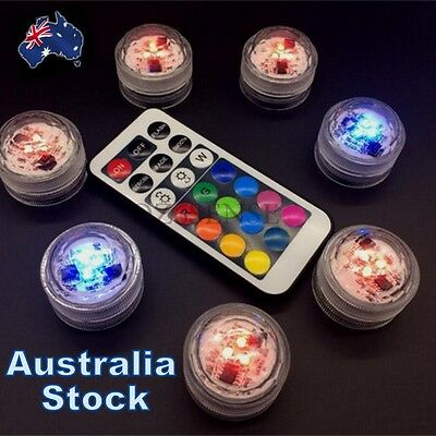 NEW Swimming Pool Spa Bath LED Lights Remote Waterproof Underwater Battery