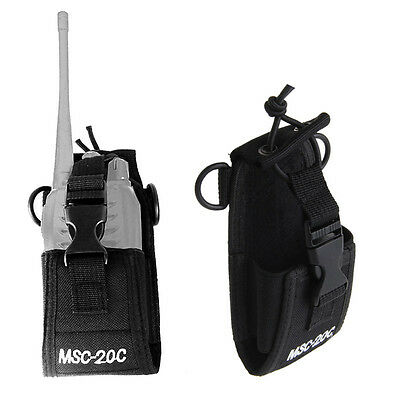 MSC-20C Nylon Radio Bag Holder Case Pouch For Baofeng UV-B5 UV82 UV8 D GT-3 UV5R