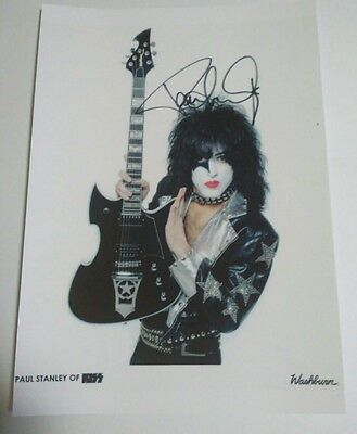 KISS PAUL STANLEY Signed Autograph large Photo A4 Music guitar