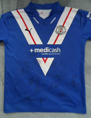 ST HELENS RFC Shirt Hand Signed by 2016 Squad - COA - Rugby - 15 Autographs