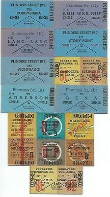 12 Different Victorian Country Tickets