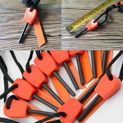 10x Survival Magnesium Flint And Steel Striker Fire Starter Stick Camping Tool