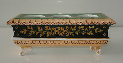 Superb Decorative Antique Derby Candle Stand Inkwell c1850-60
