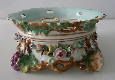 Rare & Beautiful Early Chelsea Porcelain Inkwell & Powder Desk Stand c1755