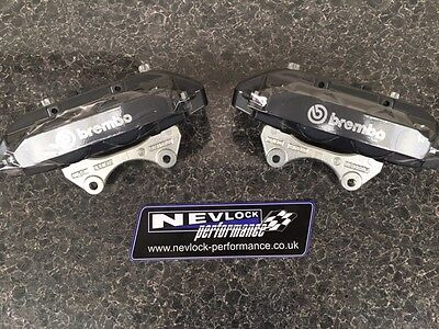 Vauxhall Corsa Vxr Nurburgring Genuine Brembo 4 Pot Front Calipers Pair