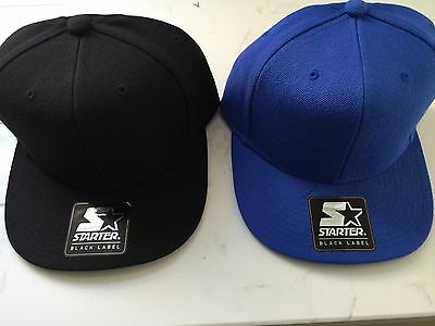 2x Starter SnapBack Caps One Size Adjustable, New With Tags