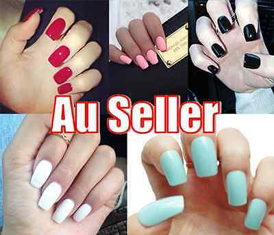 20pc Full False Nail Tips Natural Finger Toe False Fake Art Cover Manicure