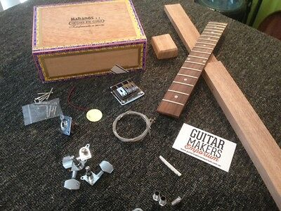 DIY Guitar Kit - Cigar Box Guitar Kit – 3 String Fretted – Electric/Acoustic ...