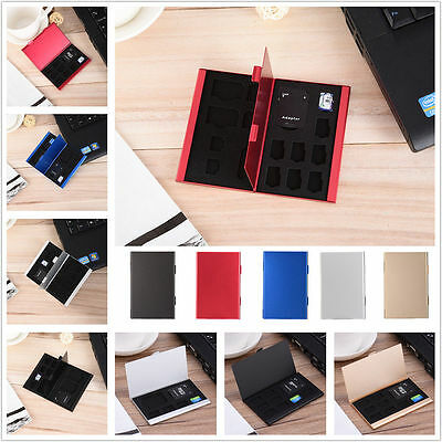 New Metal Memory Card Storage Case Holder Protector Box For CF TF SD SIM Card
