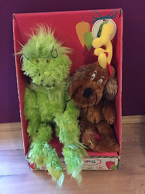 Dr Seuss The Grinch & Max Plush Christmas Gift Set  - Soft Toy Brand New