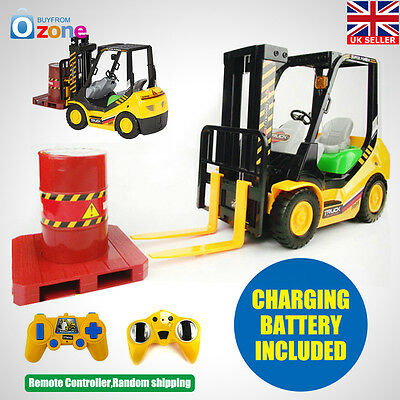 New RC Remote Control Forklift With Sounds Lights Electric Kids Toy Gift