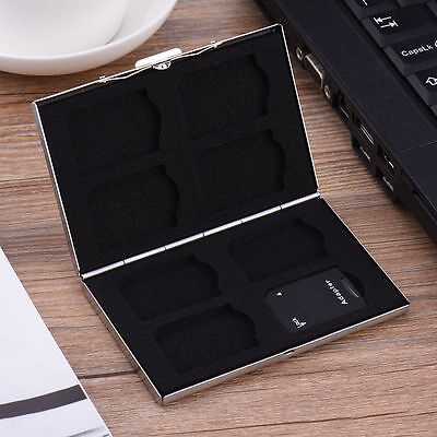 New Metal 8 Card Slot Memory Card Storage Case Protect Carrying Box For SD Card