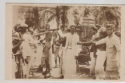 Singapore, Real Photo Ppc , Tamil Devottees At Religious Festival Unused