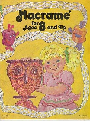 Vintage 1976 Macrame Pattern Book *for Ages 8 And Up*
