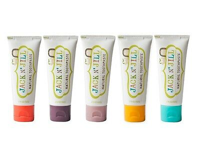 JACK N JILL KIDS ORGANIC NATURAL TOOTHPASTE - 2x50ml - CHOOSE YOUR FLAVOUR