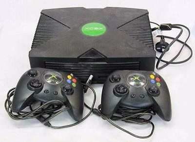 Microsoft XBOX Game Console Black with 2 Controllers #10483