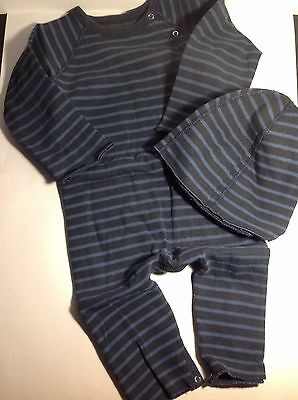 Petit Bateau Baby Grow With Hat 12 months