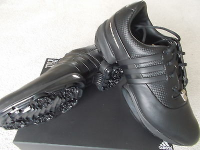 Mens Adidas Golf Shoes Rare 'porsche Golf Ii' Uk 8 Eu 42 Leather Black 021792