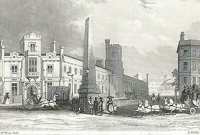 The Blind Asylum, Southwark, London - Engraving after A. W. Wray - c1840