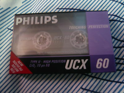 cassette tape rare retro vintage Philips ucx position chrome new and sealed