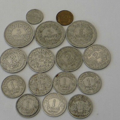 France Collection / Bulk Coins from the 1940,s  Ref FBC322