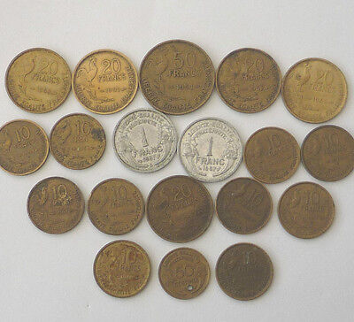 France Collection / Bulk Coins from the 1950,s  Ref FBC312