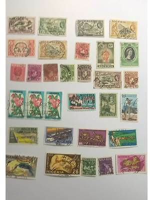 Nigeria Stamps nice old mix all used but in good condition old 1 shilling
