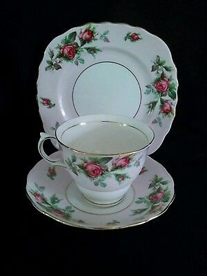 """Vintage Colclough Pink China Trio """"Rose Buds """"  Very Very Good Condition"""