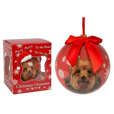 Yorkshire Terrier Dog Christmas Bauble Ornament Animal Gift Boxed xmas tree