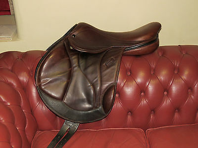 "17.5"" Brown Monoflap Event Jump Saddle"