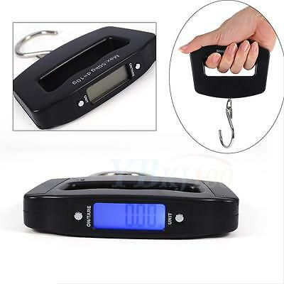 50kg/10g Digital LCD Hanging Luggage Pocket Weight Electronic Scale Hook Black