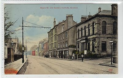 SHORE STREET AND GAMBLE INSTITUTE, GOUROCK: Renfrewshire postcard (C22004)