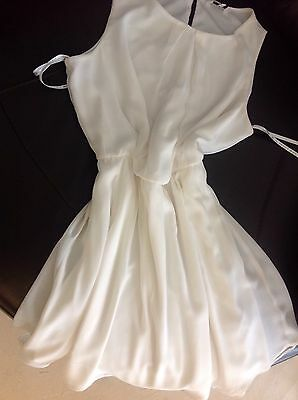 Beautiful Ivory, lined Floaty Bridesmaid/Wedding/Formal/cocktail Dress