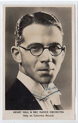HENRY HALL & BBC DANCE ORCHESTRA: Signed music postcard (C21699)
