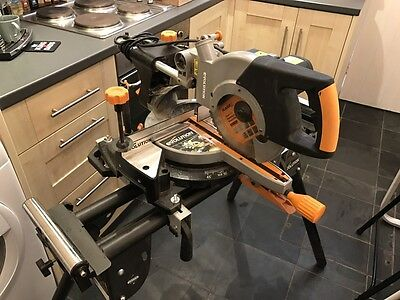 Evolution Laser Guided Mitre Saw With Foldable Stand