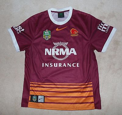 Brisbane Broncos Australia Rugby League Shirt: Size Large New Jersey