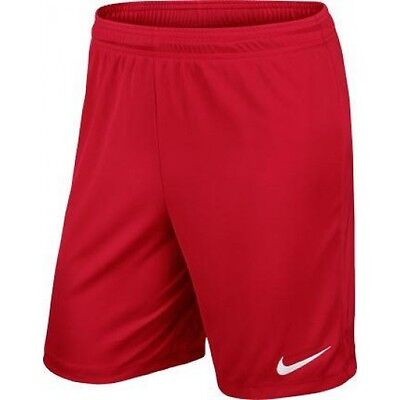 OFFICIAL NIKE PARK SHORTS Men's SMALL UNI RED