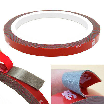 3M x 5MM, 10MM, 20MM AUTO ACRYLIC FOAM DOUBLE SIDED ADHESIVE MOUNTIMG  TAPE