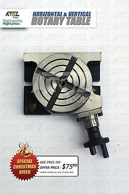 High Quality 4 Inch Rotary Table Horizontal Vertical Diy Machinists Use Offer