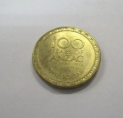 2014 Australia Years Of The Anzac 1 One Dollar Coin A Unc