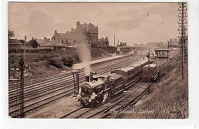 RAILWAY STATION, LARBERT: Stirlingshire postcard (C21761)