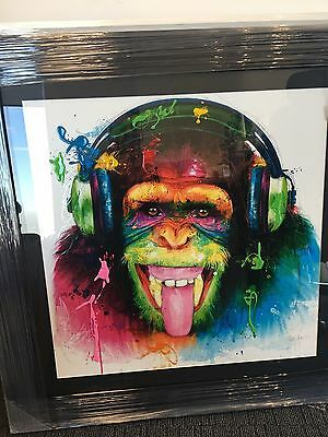 Patrice Murciano DJ Monkey Framed Picture Black