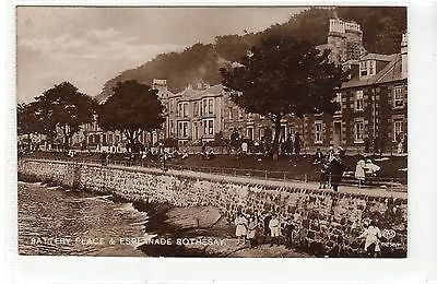 BATTERY PLACE & ESPLANADE, ROTHESAY: Isle of Bute postcard (C21818)