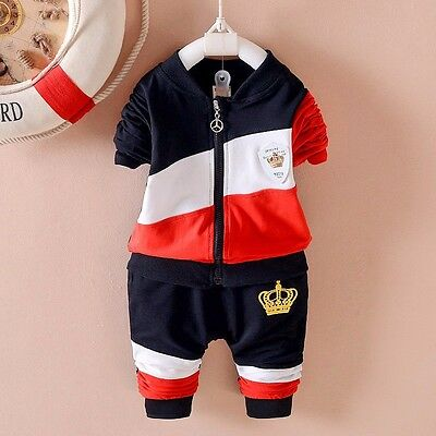 NEW!Boys 2 pcs tracksuit clothing set outfit 2-3 years BLACK